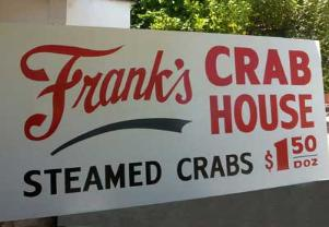 plywood sign Franks Crab House
