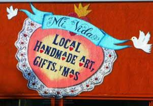 Sign Painters Los Angeles,Mi Vida Wall Sign,Sign Painter Highland Park The Window Goddess