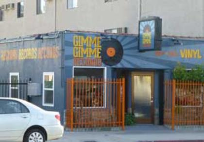 Painted wall sign, Gimme Gimme Records, Highland Park