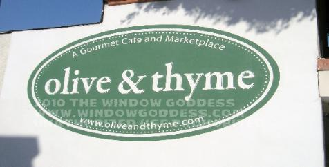 Painted wall sign, Olive & Thyme, San Fernando Valley