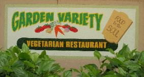 Painted wall sign, Garden Variety Vegetarian Restaurant, Los Angeles