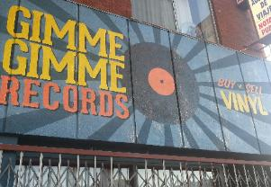 painted wall sign Gimme Gimme Records