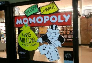 Window Splash Painting, Albertsons Monopoly, The Window Goddess